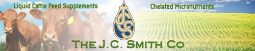 The JC Smith Co. offers a complete line of Liquid Cattle Feed Supplements to assist you in providing complete nourishment for your animals and a complete line of Chelated Micronutrients to assist you in getting the most out of your crops.
