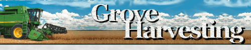 Grove Harvesting travels from southern Oklahoma to northern North Dakota harvesting and following the wheat belt. Then returns in the fall to harvest corn, soybeans, and milo around the southern Nebraska and northern Kansas area.