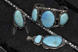 Turquoise and Sterling Set