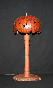 Mesquite lamp with gourd shade (ML101)