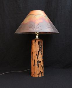Mesquite lamp with copper lampshade (ML103)