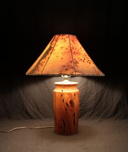 Mesquite turned lamp by Terry Lankford (ML105)